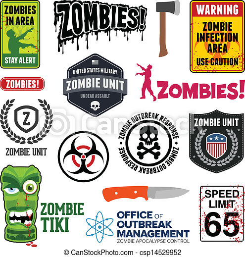 zombie, zeichen & schilder - csp14529952