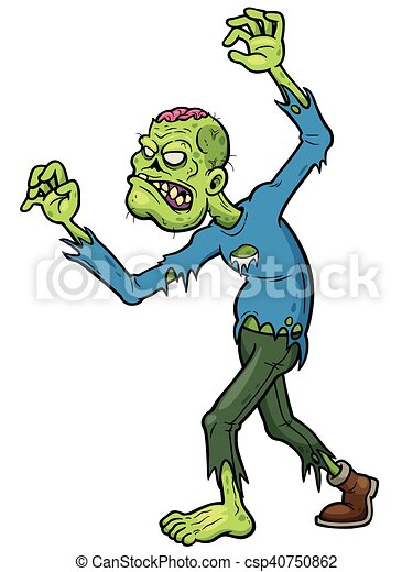 zombies vector illustration of cartoon zombie clip art vector rh canstockphoto com free clipart of zombies free zombie clipart images