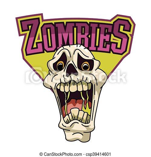zombies illustration design - csp39414601