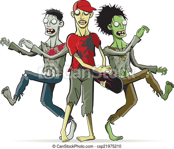 Zombies. Cartoon characters.