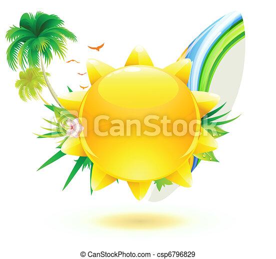 zomer, achtergrond - csp6796829