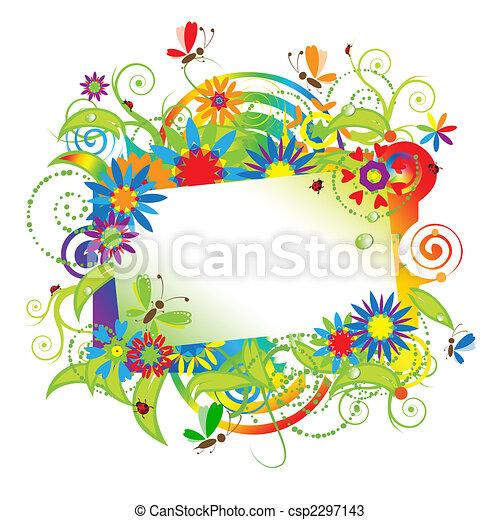 zomer, dromen, begroetende kaart - csp2297143