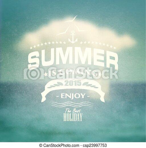 zomer, ontwerp - csp23997753