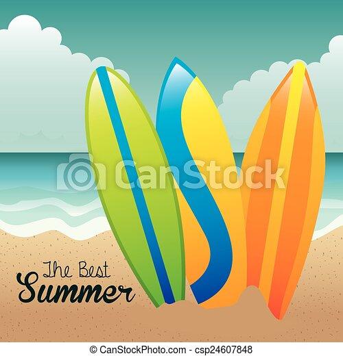 zomer, ontwerp - csp24607848