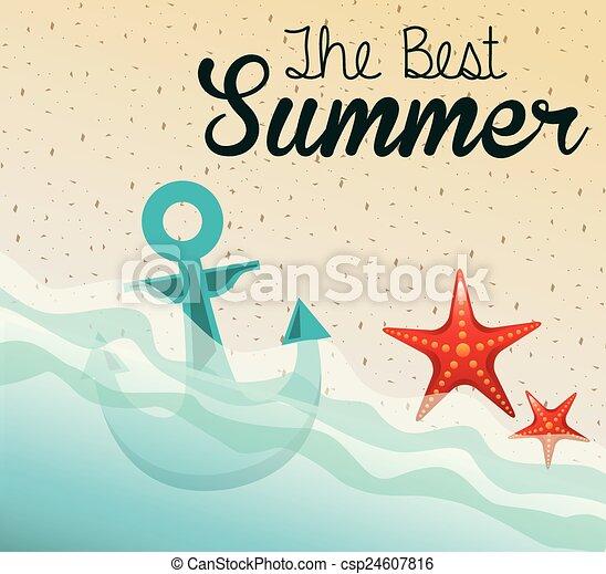 zomer, ontwerp - csp24607816