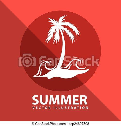 zomer, ontwerp - csp24607808