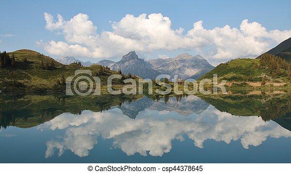 zomer, scène, meer, trubsee - csp44378645