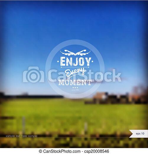 zomer, vector, achtergrond - csp20008546