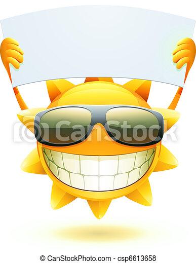 zomer, vrolijke , zon - csp6613658