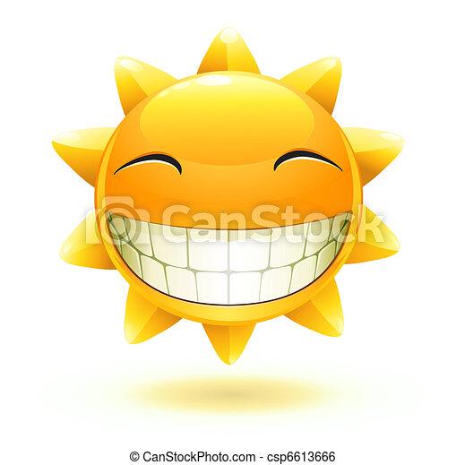 zomer, vrolijke , zon - csp6613666