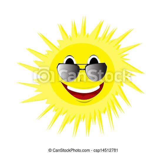 zomer, vrolijke , zonnebrillen, zon - csp14512781