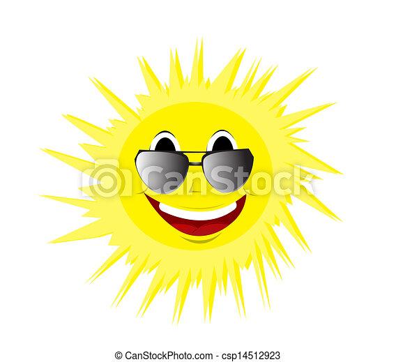 zomer, vrolijke , zonnebrillen, zon - csp14512923