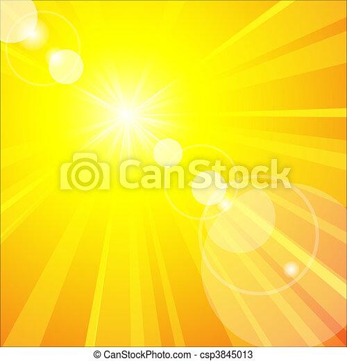 zomer, warme, zon - csp3845013