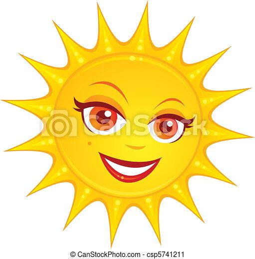 zomer, warme, zon - csp5741211