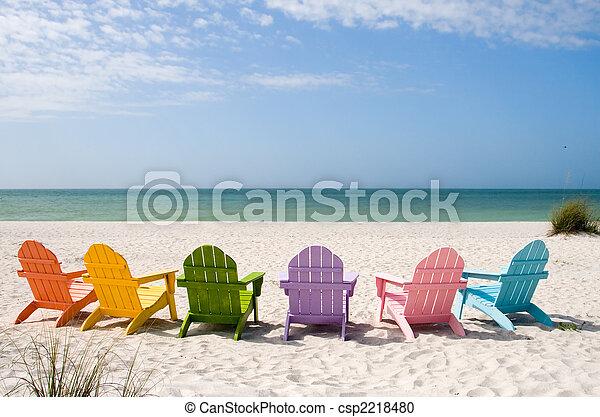 zomer, zet op het strand vakantie - csp2218480