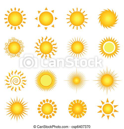 zomer, zon - csp6407370