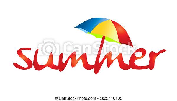 zomervakantie, -, schaduw, zon - csp5410105