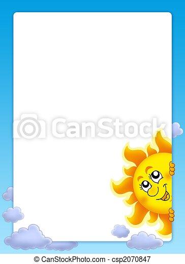 zon, frame, zich het verschuilen - csp2070847