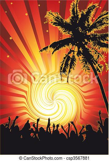 zon, funky, beachparty - csp3567881