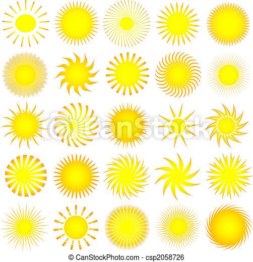 zon, iconen - csp2058726