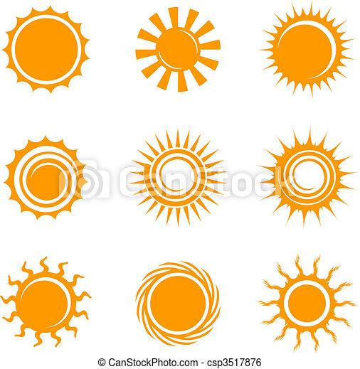 zon, iconen - csp3517876