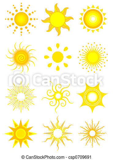 zon, iconen - csp0709691