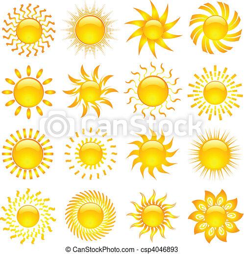 zon, iconen - csp4046893