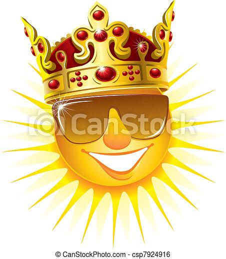 zon, kroon, gouden - csp7924916