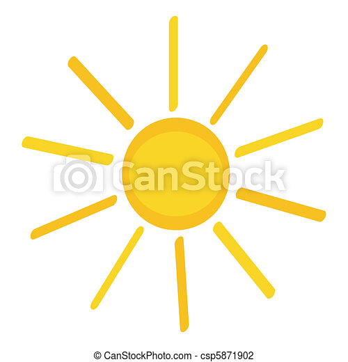 zon, pictogram - csp5871902