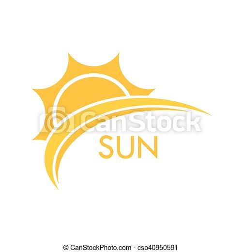 zon, symbool, illustratie - csp40950591