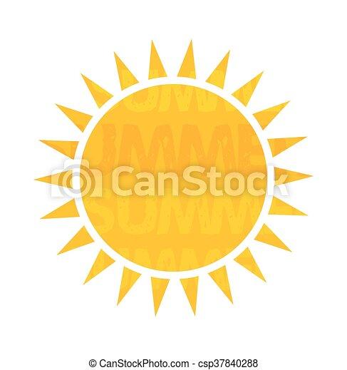 zon, vector, illustratie - csp37840288