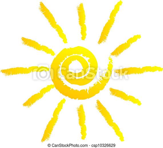 zon, vector, illustratie - csp10326629