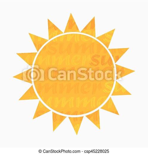 zon, vector, illustratie - csp45228025