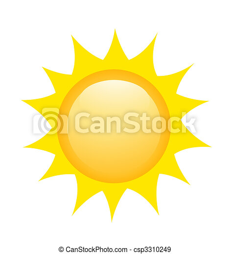zon, vector, illustratie, pictogram - csp3310249