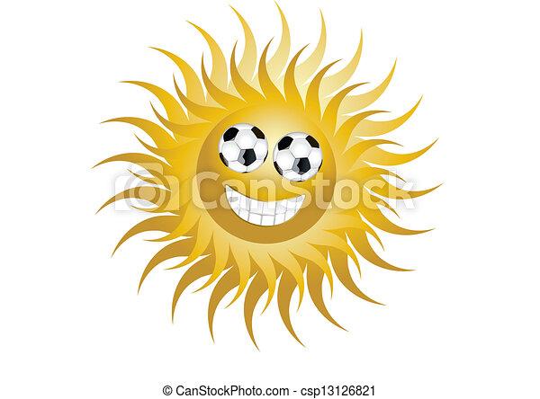 zon, voetbal - csp13126821