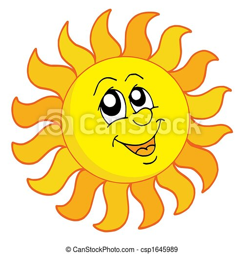 zon, vrolijke  - csp1645989