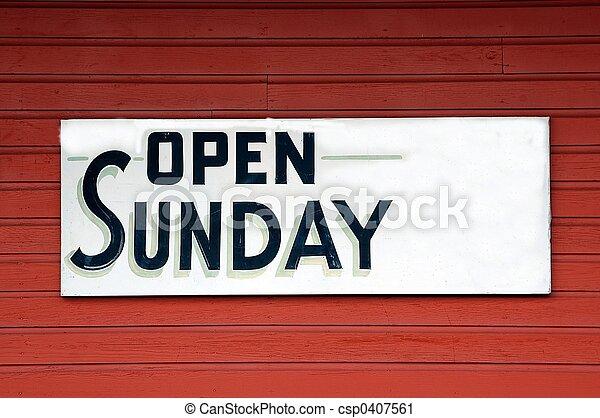 zondag, open teken - csp0407561