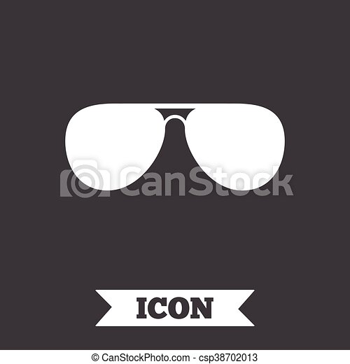 zonnebrillen, glasses., meldingsbord, icon., vliegenier, piloot - csp38702013