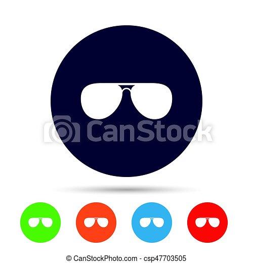 zonnebrillen, glasses., meldingsbord, icon., vliegenier, piloot - csp47703505