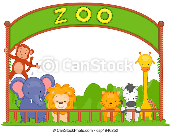 illustration of zoo animals leaning on the fence clip art search rh canstockphoto com clip art zombie clipart zombies