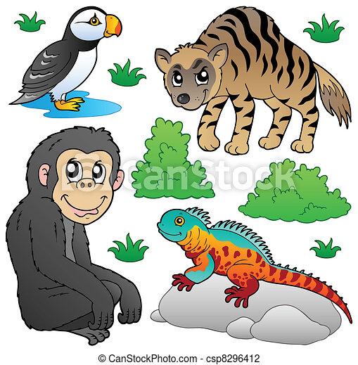 Zoo animals set 2 - csp8296412
