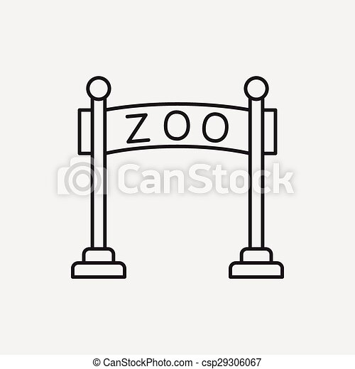 Zoo Gate Clipart Black And White