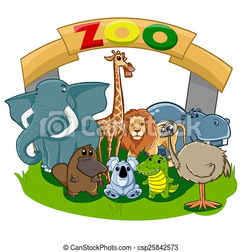 illustrations of various kinds of animals in zoo rh canstockphoto com zoo clipart image zoo clipart animals