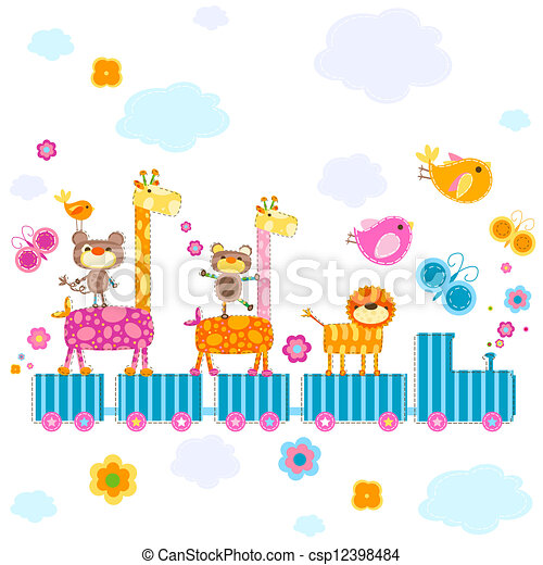 zoo train - csp12398484