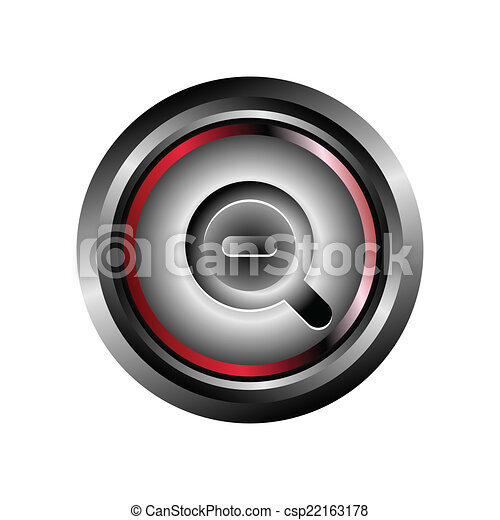 Zoom icon button vector - csp22163178