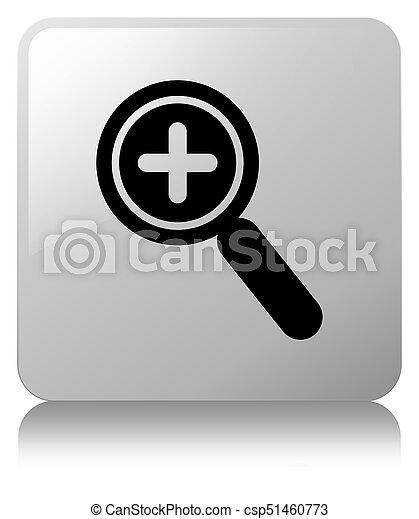 Zoom in icon white square button - csp51460773