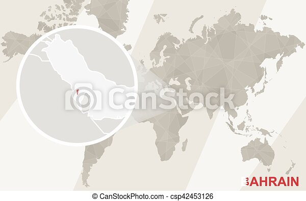 Zoom on bahrain map and flag world map vector illustration zoom on bahrain map and flag world map csp42453126 gumiabroncs