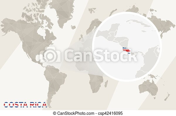 Zoom on costa rica map and flag world map eps vectors search zoom on costa rica map and flag world map vector gumiabroncs Image collections