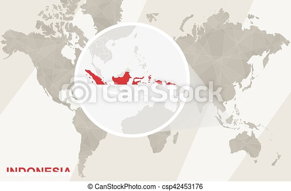 Zoom on indonesia map and flag world map vectors illustration zoom on indonesia map and flag world map csp42453176 publicscrutiny Gallery