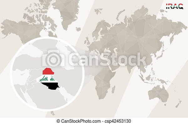 Zoom on iraq map and flag world map vectors search clip art zoom on iraq map and flag world map csp42453130 gumiabroncs Gallery